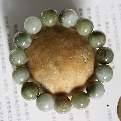 100% Natural Jadeite (Grade A) Untreated Oily Green Chinese JADE Bracelet 13mm