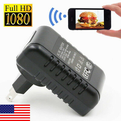 HD 1080P Wireless Camera Wall Charger Adapter Covert Nanny Home Security Cam NEW