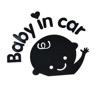 Baby In Car  Waving Baby on Board Safety Sign Vinyl Car Decal / Sticker RQ