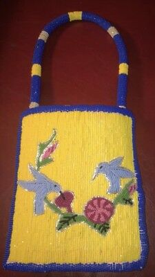 BEAUTIFUL HAND CRAFTED FULLY BEADED BUCKSKIN NATIVE AMERICAN INDIAN Purse