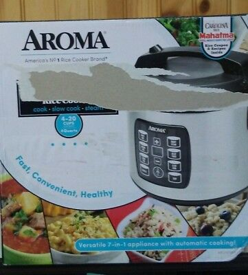 Aroma Multicooker Rice Cooker & Slow Cooker 4 Quarts ARC-103OSB-N.O
