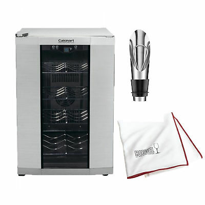 Cuisinart CWC-800 8-Bottle Private Reserve Wine Cellar, Stainless Finish Bundle