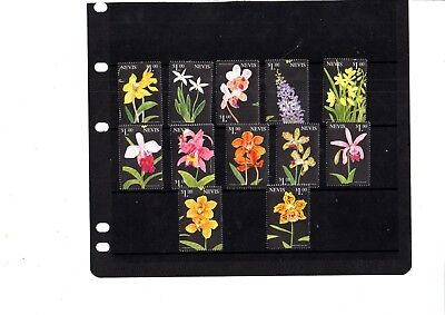 A  Unmounted Mint Set From Nevis Flowers