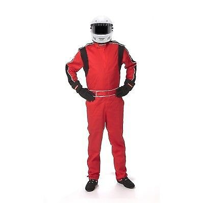 Pyrotect 110502 Sportsman Deluxe SFI-1 One-Piece Driving Suit- XL-Red