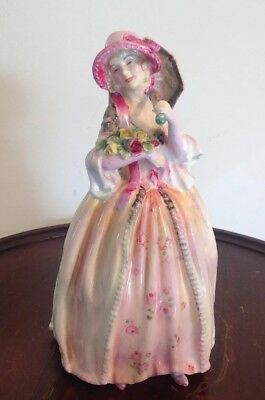 "Vintage Royal Doulton ""June"" HN2027 Porcelain Figurine Woman Parasol Dress RARE"