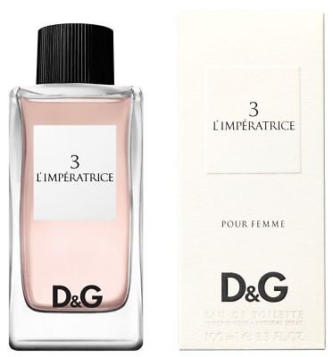 DOLCE & GABBANA No3 L'Imperatrice 100ml EDT Women's Perfume New Boxed Sealed 8OO