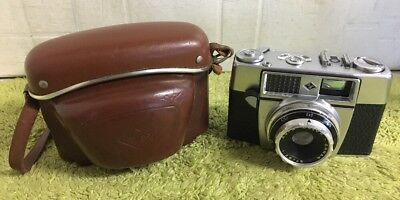 Vintage Agfa Optima 1A Agnar 2.8 45mm Camera With Brown Leather Case
