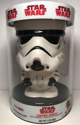 Star Wars Stormtrooper Ceramic Goblet Pimp Cup Drinking Glass + Cocoa Disney New
