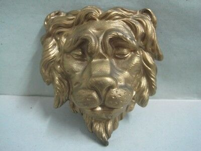 Antique wall plaque Plate with mythical bronze figure a lion nº 6449 EB