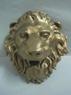 Antique wall plaque Plate with mythical bronze figure a lion nº 32293 EB