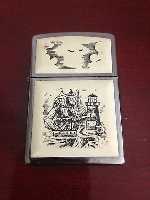 Collectible 2016 Scrimshaw Ship C 16 Zippo Lighter