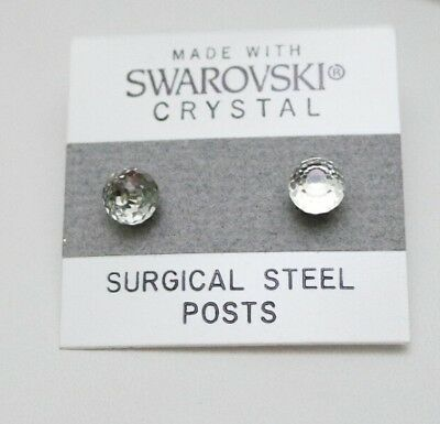 Silver Crystal Ball Stud Earrings 5mm Small Made With Swarovski Elements