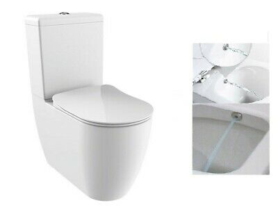 Stupendous Creavit Fe360 Back To Wall Close Coupled Combined Bidet Dailytribune Chair Design For Home Dailytribuneorg