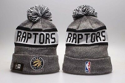 NBA Toronto Raptors Hat Beanie Fan Winter Kint Lint Cap Wool Cap Gray
