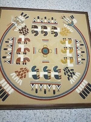 Native American Indian Original Navajo Sand Painting by Begay