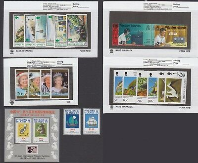 Pitcairn Is. - 1996 Commemorative Sets & S/S. Sc. #440-56. SG #487-503. Mint NH