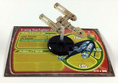 WOTC Star Wars Minis Starship Battles Y-Wing Starfighter Ace MINT