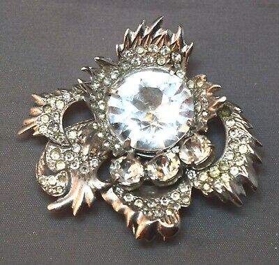 MAGNIFICENT Eisenberg Original Sterling Dimensional Fur Clip Incredible Pin!