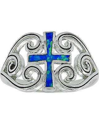 Montana Silversmiths Women's River of Lights Cross Ring  Silver 8