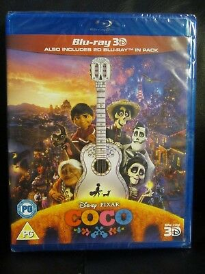 Coco 3D/2D Blu-Ray [UK] New Sealed Region Free Disney Animated Pixar