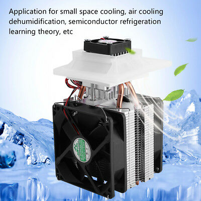 12V Thermoelectric Peltier Refrigeration Cooling System Kit Cooler With Fan Hot