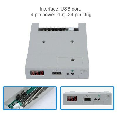 "3.5"" 1.44MB USB Floppy Drive Simulation Emulator for Industrial Equipment DIY TS"