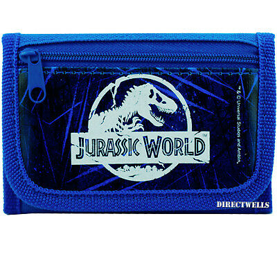 Jurassic World Authentic Licensed Canvas Trifold Blue Wallet for Children