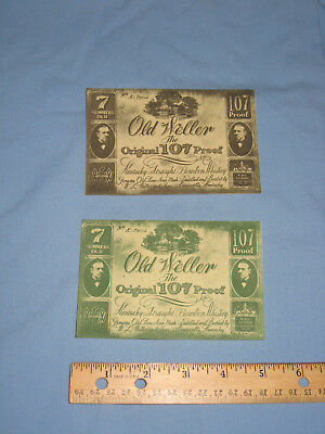 Old Weller - The Original 107 Proof Kentucky Bourbon Whiskey Labels. Rare - New
