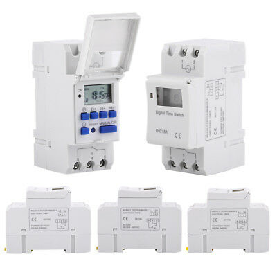 THC15A AC Digital LCD Programmable Timer Time Relay Switch 110V/24V/12V Set