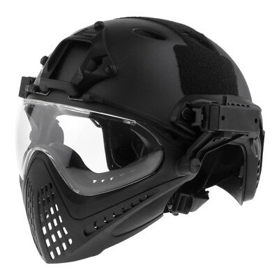 Tactical Shooting Paintball Protective Combat FAST Helmet with Mask & Goggle