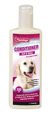 Flamingo Conditioner 300ml, Spülung für Hunde, mit Nerzöl, soft & shiny