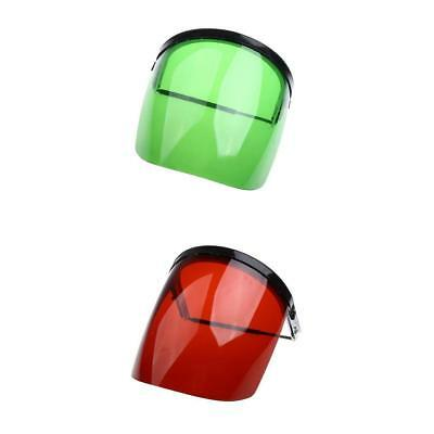 Protective Clear Green&Red Face Shield - Light,Firm,Flame Retardant,UV-Proof