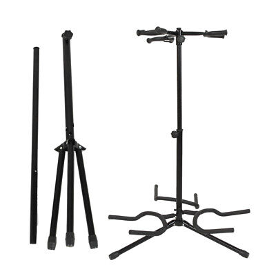New Electric Acoustic Guitar Bass Display Stand 3 Holder Black