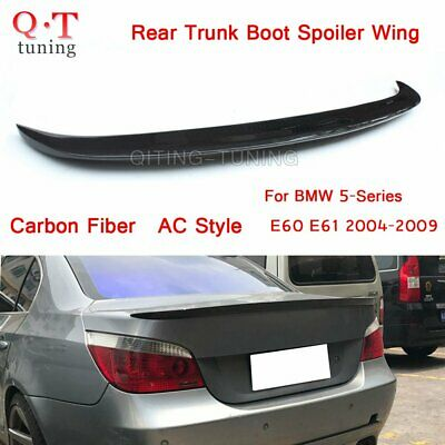 Carbon Fiber Rear Trunk Boot Spoiler Wing AC LOOK For BMW 5-Series E60 E61 04-09
