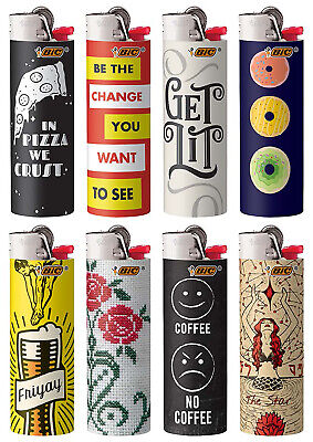 BIC Cutting Edge Special Edition Series Lighters 2020 New! Set of 8 Lighters