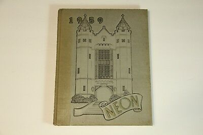1959 Youngstown University Yearbook The Neon Ohio Vintage College