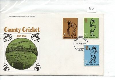 GB - FDC - TOWN CANCEL (319)  UNADDRESSED -1973 County Cricket - Pmk Oxford