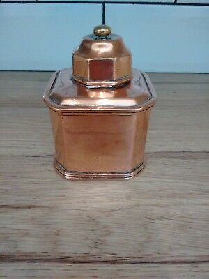 Antique Lidded Copper Cannister Caddy Georgian/Victorian?