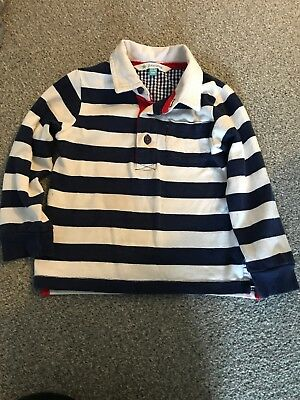 John Lewis Baby Boy Rugby Shirt Navy Striped Age 12-18 Months