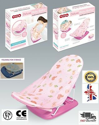 Baby Bath Seat Recline Foldable 3 Postion Newborn Easy Bath Support Cradle Pink