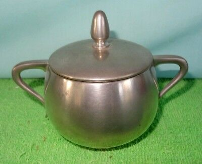 Vintage Royal Holland KMD Daalderop Pewter Sugar Bowl With Lid