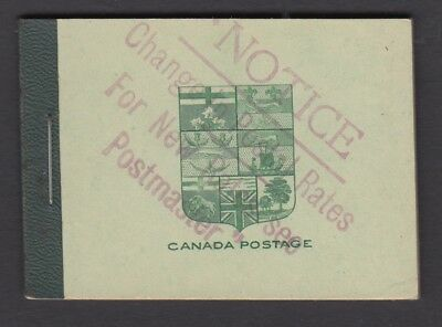 CANADA BOOKLET BK3e KING GEORGE V ADMIRAL ISSUE (1912-1930)