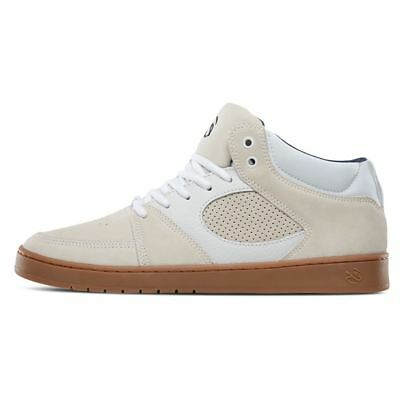 b156869f56 Es Accel Slim Mid Shoes - White Gum Skateboard Sneakers Trainers