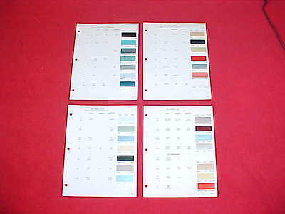 1964 1/2 Ford Lincoln Mercury Mustang Car Color Paint Chips Brochure Chart 64