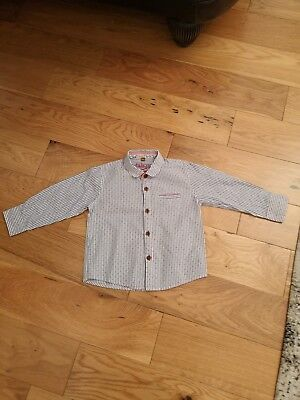 Ted Baker Designer Boys Shirt 18-24 Months Birthday Or Christmas Party