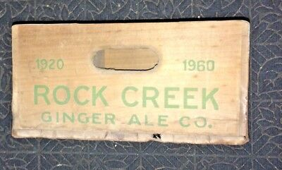 Vintage 1960 Rock Creek Ginger Ale Co. Wooden Crate