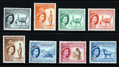 SOMALILAND Queen Elizabeth II 1953-1958 Part Set SG 137 to SG 144 MINT