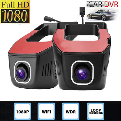 1080P WiFi Wireless 165° Car DVR Dash Cam Camera Video Recorder Loop Recording