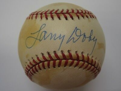 fc767102355 Larry Doby Cleveland Indians signed autographed Official OAL baseball SGC