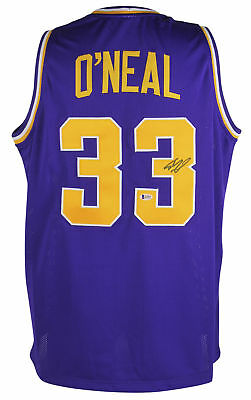 aa941e729 LSU Shaquille O Neal Authentic Signed Purple Jersey Autographed BAS  Witnessed